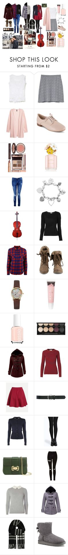 """""""If I Stay - Mia Hall"""" by selina02wang ❤ liked on Polyvore featuring Chicwish, Gap, Clarks, Charlotte Tilbury, Marc Jacobs, Boohoo, ChloBo, windsor., Frame and Levi's"""