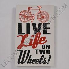 Vivez la vie sur deux roues! Un cri du cœur ou l'affirmation de votre éthique? Rosendale, Wisconsin