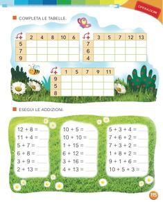 Math Addition Worksheets, School Frame, Italian Language, Classroom Activities, Teaching Math, Homeschool, Children, 3, Aurora