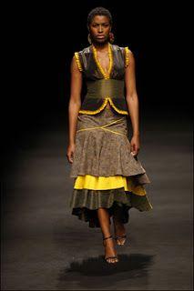 South African designer Bongiwe Walaza - I just love shwe shwe print dresses.