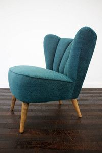 RETRO 50s COCKTAIL CHAIR ARMCHAIR FABRIC VINTAGE 60s BEDROOM