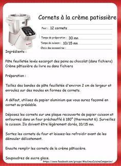 Cornets a la crème pâtissière Food Humor, Funny Food, Prep & Cook, Recipes, Cooking Food, Sweet Recipes, Cooker Recipes, Fun Food