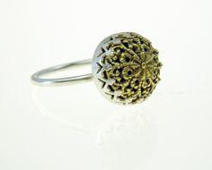 Filigree ring, silver