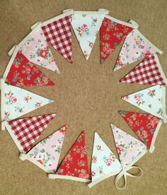 Fabric is Cath Kidston, Laura Ashley and Clarke & Clarke.
