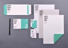 Hotel Para Uno identity collateral | Designer: Josep Román Barri - joseproman.com/...