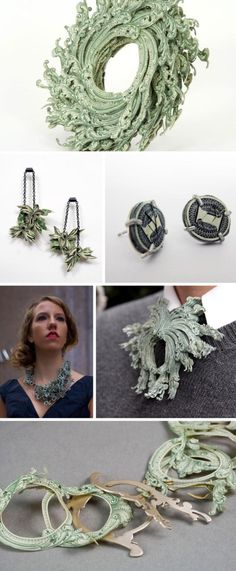 Lauren Vanessa Tickle, Jewelry made with US Currency, brooches & necklaces made with money, Increasing Value