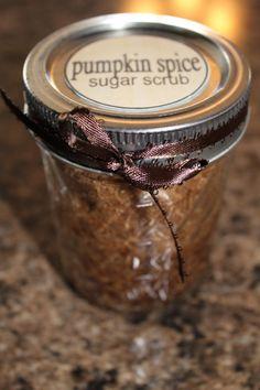 DIY Pumpkin Spice Sugar Scrub perfect for a  gift basket