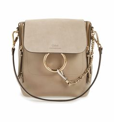 Main Image - Chloé Small Faye Suede & Leather Backpack