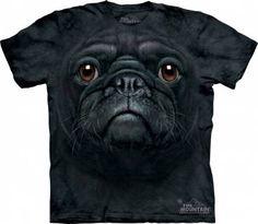 The Mountain-Shirts HundeMops Schwarz - Black Pug Face