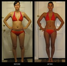 Michelle C. lost 20 pounds with P90X in 90 days! Check out her amazing before and after photo! Repin if you think her results rock!