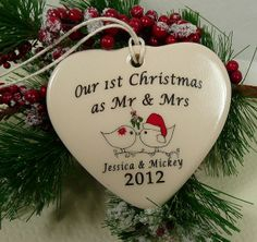 Our 1st Christmas as Mr and Mrs Porcelain by aphroditescanvas, $28.00