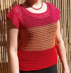Summer Crocheted Top - free pattern on Ravelry
