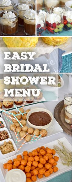 Everything you need to plan the perfect bridal shower on a budget!                                                                                                                                                     More