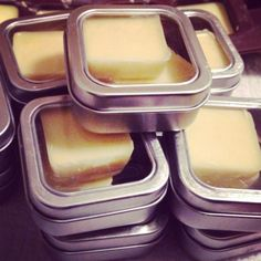 lotion bars: One part Beeswax One part Almond Oil  One part Coconut Oil crockpot, pour into a mold, refrigerate
