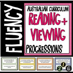 """READING AND VIEWING LITERACY PROGRESSIONS - FLUENCY Australian CurriculumThese posters have been made to display the Literacy Progressions element of Reading and Viewing - FLUENCY. Also can be used as a bump it up wall.Included:Posters of All Progressions for - """"FLUENCY""""Numbers in large circles fo..."""
