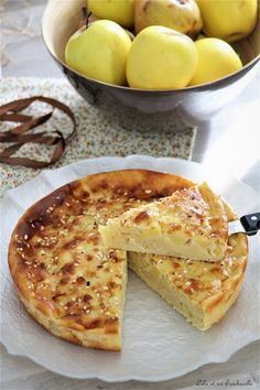 Cottage cheese & apple cake {light recipe} Lolo and his Tambouille - Gâteaux & Clafoutis - Healthy recipes easy Apple Cake Recipes, Homemade Cake Recipes, Chocolate Recipes, Dessert Recipes, Tart Recipes, Dinner Recipes, Easy No Bake Cheesecake, Baked Cheesecake Recipe, Homemade Cheesecake