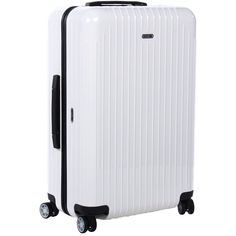 Rimowa Salsa Air - 26 Multiwheel (Carrara White) Pullman Luggage ($515) ❤ liked on Polyvore featuring bags and luggage