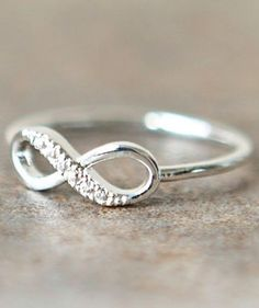 Infinity ring. I would love to have one of these for my wedding ring