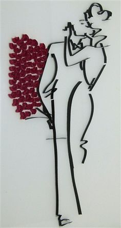 "Quilled artwork ""First date"", by NBeltrani"