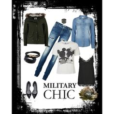 """MILITARY CHIC"" by axouxere-moda-complementos on Polyvore"