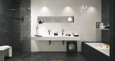 Colectia Lumina 25x75 cm prezinta placi de faianta cu supratafa 3D, aspect mat si lucios. Alege aceasta colectie pentru amenjarea interioarelor luminoase si moderne, mereu la moda. Colectie de faianta alba de la Fap Ceramiche.Dimensiuni Faianta:25x75 cm Wall Tiles Design, Honeycomb Pattern, Ceramic Wall Tiles, Bathroom Wall, Bathroom Inspo, Industrial Style, Bathtub, Italy, Flooring