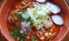 Red Chile Chicken Posole with Roasted Toamtoes