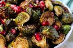 These Ginger & Balsamic Roasted Brussels Sprouts with Pomegranates are an easy & healthy side dish that are just as festive as the holiday season - Eat the Gains Whipped Sweet Potatoes, Roasted Sweet Potatoes, Healthy Sides, Healthy Side Dishes, Daniel Fast Recipes, Fall Recipes, Delicious Recipes, Soup And Salad, Meal Planning