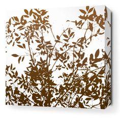 Brush Canvas Wall Art White - BRUSHWHT_1616C