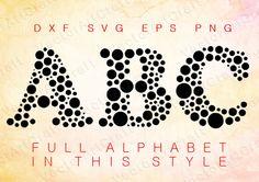 Bubbles come  eps Alphabet Numbers font dxf SVG от VectorArtCraft