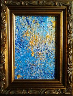 """Sunken Treasure  Acrylic on 2.5 x 3.5"""" canvas"""
