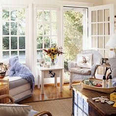 Nautical Living Room - 100 Comfy Cottage Rooms - Coastal Living