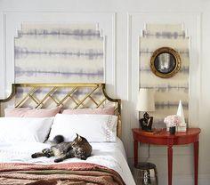 DIY Fabric Wallpaper Treatment by Megan Pflug of One Kings Lane on Design*Sponge