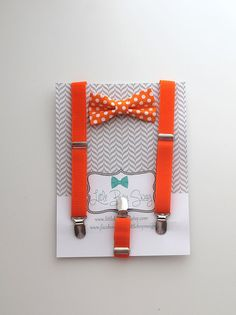 Orange Bow Tie Suspender Set..boy bow tie by LittleBoySwag on Etsy, $29.00