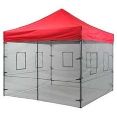 Affordable Food Tent Mesh Sidewall system. This Food Service system increases air-flow and ventilation and allows unobstructed viewing while providing additional protection from the elements.