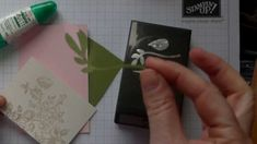 How to make a rosebud using the Bird builder punch from Stampin Up!