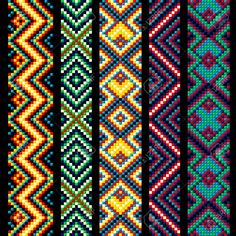 Find Beading Design Tribal Design Tribal Beads stock images in HD and millions of other royalty-free stock photos, illustrations and vectors in the Shutterstock collection. Thousands of new, high-quality pictures added every day. Bead Loom Patterns, Beaded Jewelry Patterns, Bracelet Patterns, Beading Patterns, Beading Ideas, Bead Jewelry, Bead Loom Designs, Art Patterns, Crochet Patterns