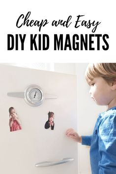 Cheap and Easy DIY Kid Magnets for parents, gifts, and decor