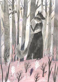 Stampe d'arte di Wolf illustrato la compagnia di lupi