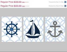 These are super-cute for a nautical nursery, but I think would also be really easy to make yourself!