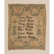 Sampler, Merwine Family, ca. 1816