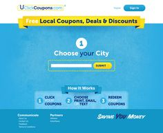 UClickCoupons Site Design by Stephen Leacock, via Behance