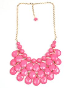ON SALE Paint Me Pink Statement Necklace