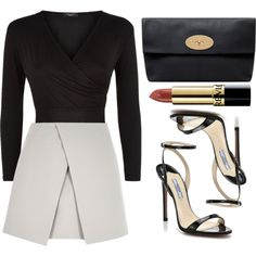 Untitled #2043 by glitter-the-world on Polyvore featuring River Island, Prada, Mulberry and Revlon