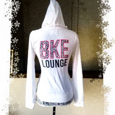 BKE Lounge Beach Terry Hoodie Sz S Super cute terry hoodie from the bke lounge collection.  White with front and back logos.  Back logo is animal print....how fun is that?  Excellent condition.  Size small.  Full zip. BKE Tops Sweatshirts & Hoodies