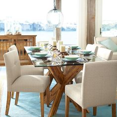 A fresh take on #Pier1 Mason, our most popular chair collection, our Mattie Low Back Dining Chair sports a comfortably lower seat-back height for a better view of the whole room. Plus, our versatile Simon X Dining Table Base works with any decor.  You can recreate this look via our Like2b.uy/Pier1 link in our profile. #diningroom #instahome