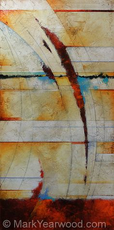 Lateral Moves by Mark Yearwood Acrylic/Graphite ~ 36'' x 18''
