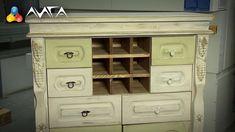Красим комод сами в технике состаривания! China Cabinet, Decoupage, Recycling, House Design, Storage, Wood, Remodeling Ideas, Furniture, Home Decor