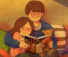 ฺ݊◷໋͓֡👫❒̸꯭̼۪۪ en We Heart It Cute Couple Selfies, Cute Couple Drawings, Cute Drawings, Hug Pictures, Cute Couple Pictures, Love Cartoon Couple, Cute Love Cartoons, Puuung Love Is, Cute Love Stories
