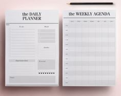 Planner Printable A4 Pack 13 Modern by CrossbowPrintables on Etsy