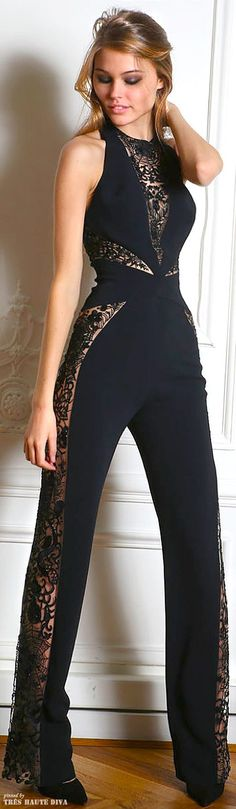 Upper part only is perfect Zuhair #Murad - black jumpsuit - 2014: